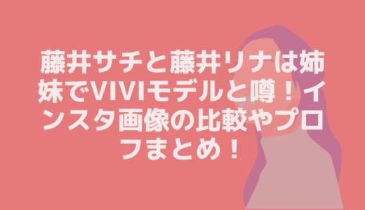 藤井サチと藤井リナは姉妹でviviモデルと噂!インスタ画像の比較やプロフまとめ!